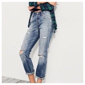 Hollister High Rise Vintage Straight Jeans